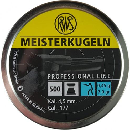 Пули RWS Meisterkugeln 0,45 г (500 штук) 4,5 мм