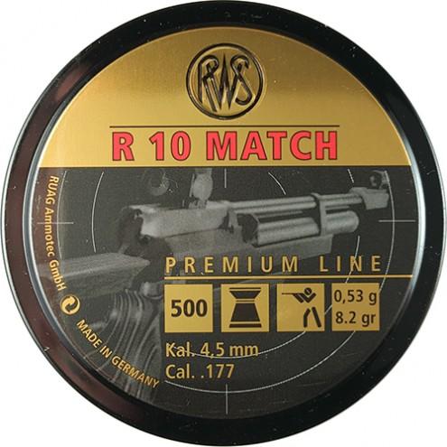 Пули RWS R 10 Match 0,53 г (500 штук) 4,5 мм