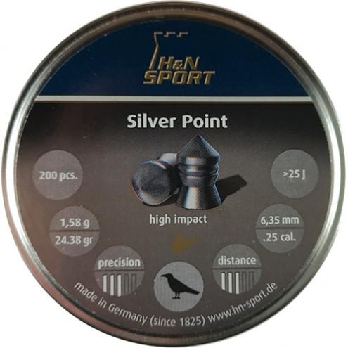 Пули H&N Silver Point 1,58 г (200 штук) 6,35 мм