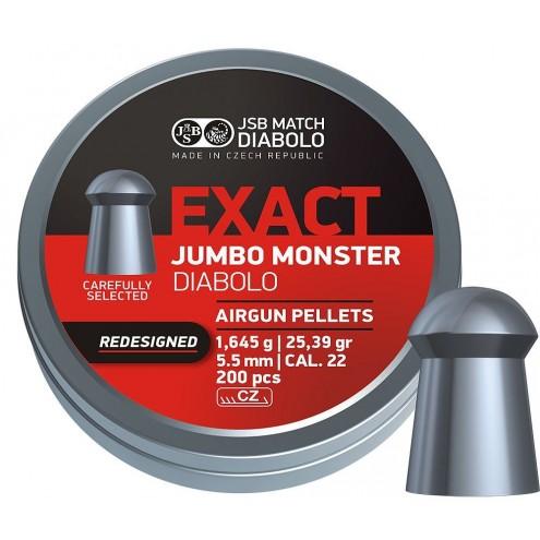 Пули JSB Exact Jumbo Monster 1,645 г (200 штук) 5,5 мм