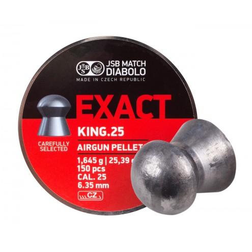 Пули JSB Diabolo Exact King 1,645 г (350 штук) 6,35 мм