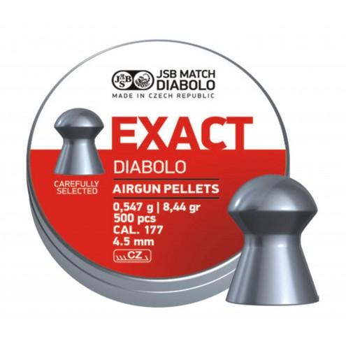 Пули JSB Diabolo Exact 0,547 г (500 штук) 4,5 мм