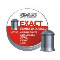 Пули JSB Diabolo Exact Monster 0,87 г (400 штук) 4,5 мм
